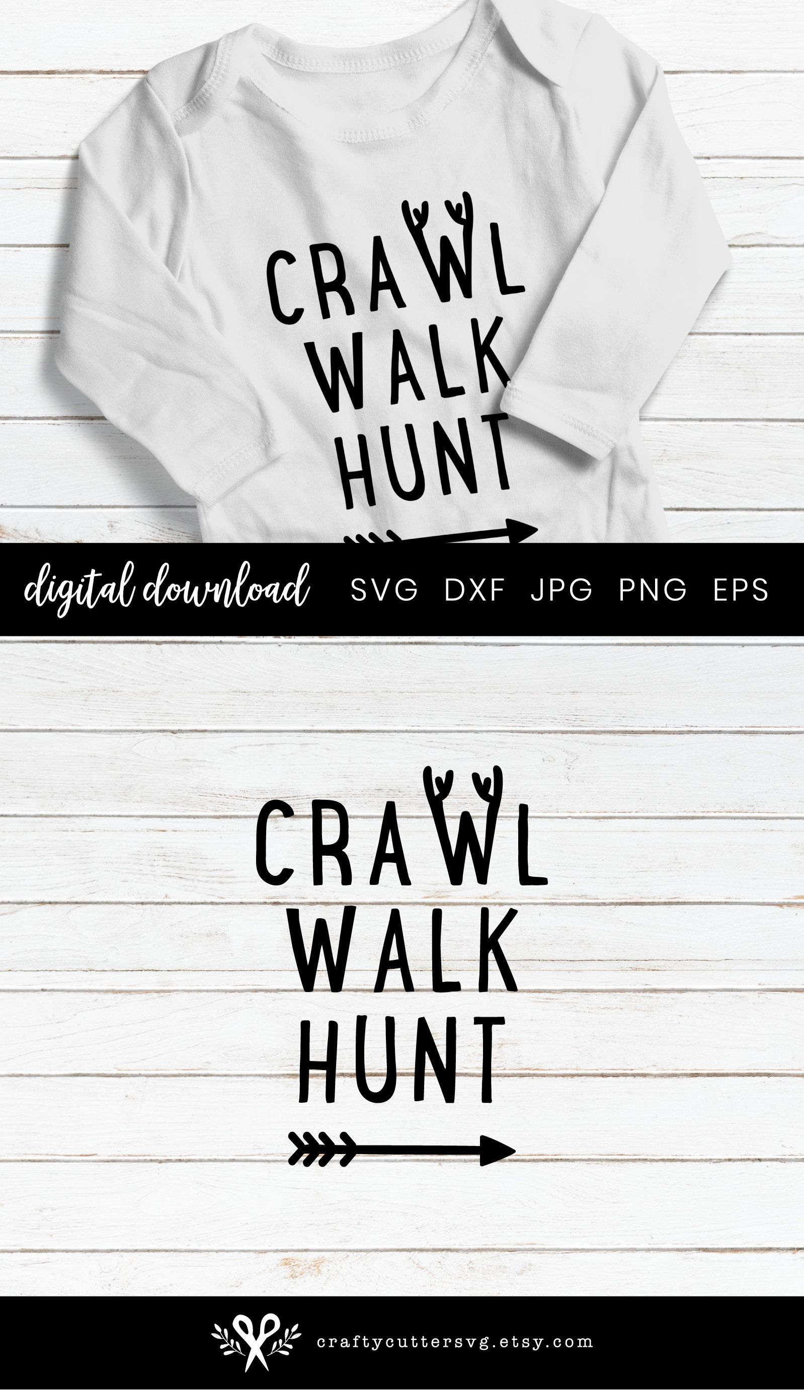 Hunting clipart southern. Antler toddler baby svg