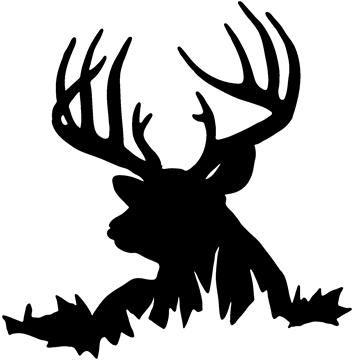 Deer free images vinyl. Hunting clipart stencil