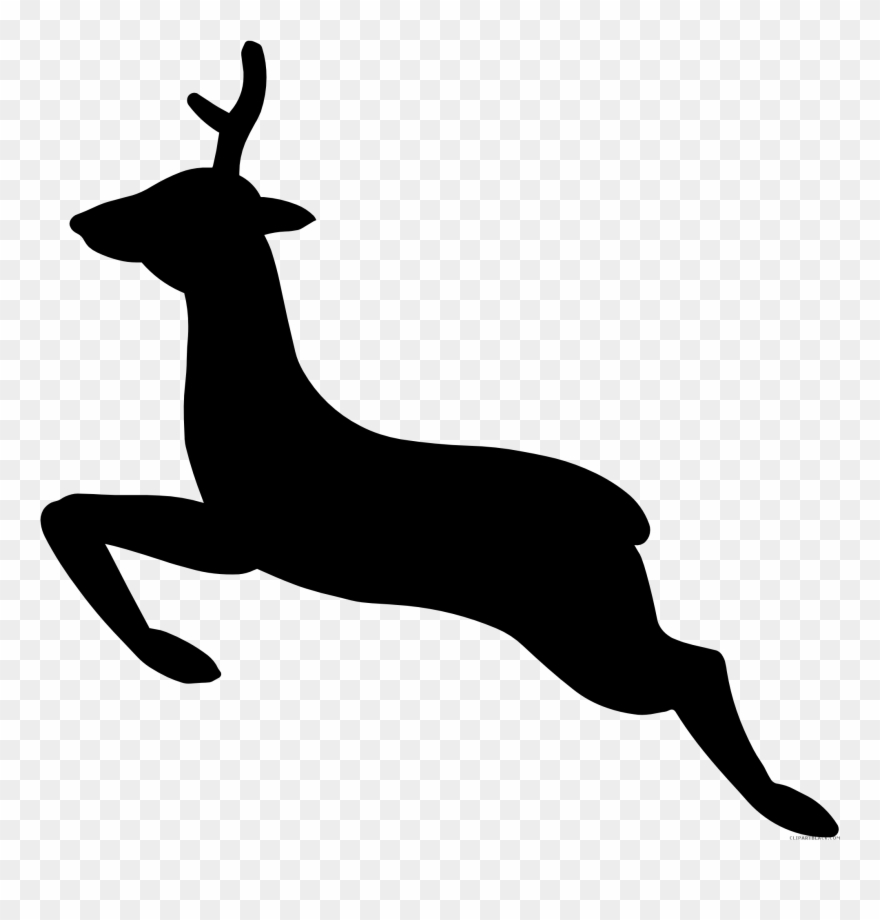 Hunting clipart stencil. Deer head png download