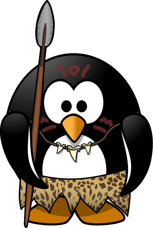 Hunting clipart stone age man. Image for wild penguin
