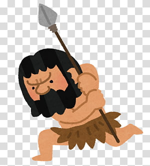 Hunting clipart stone age man. Png images free download