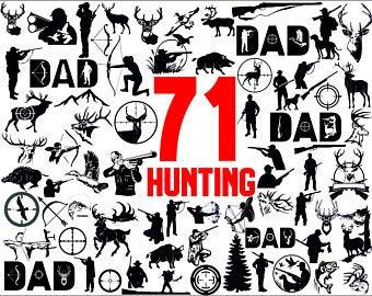 Hunting clipart svg. Etsy