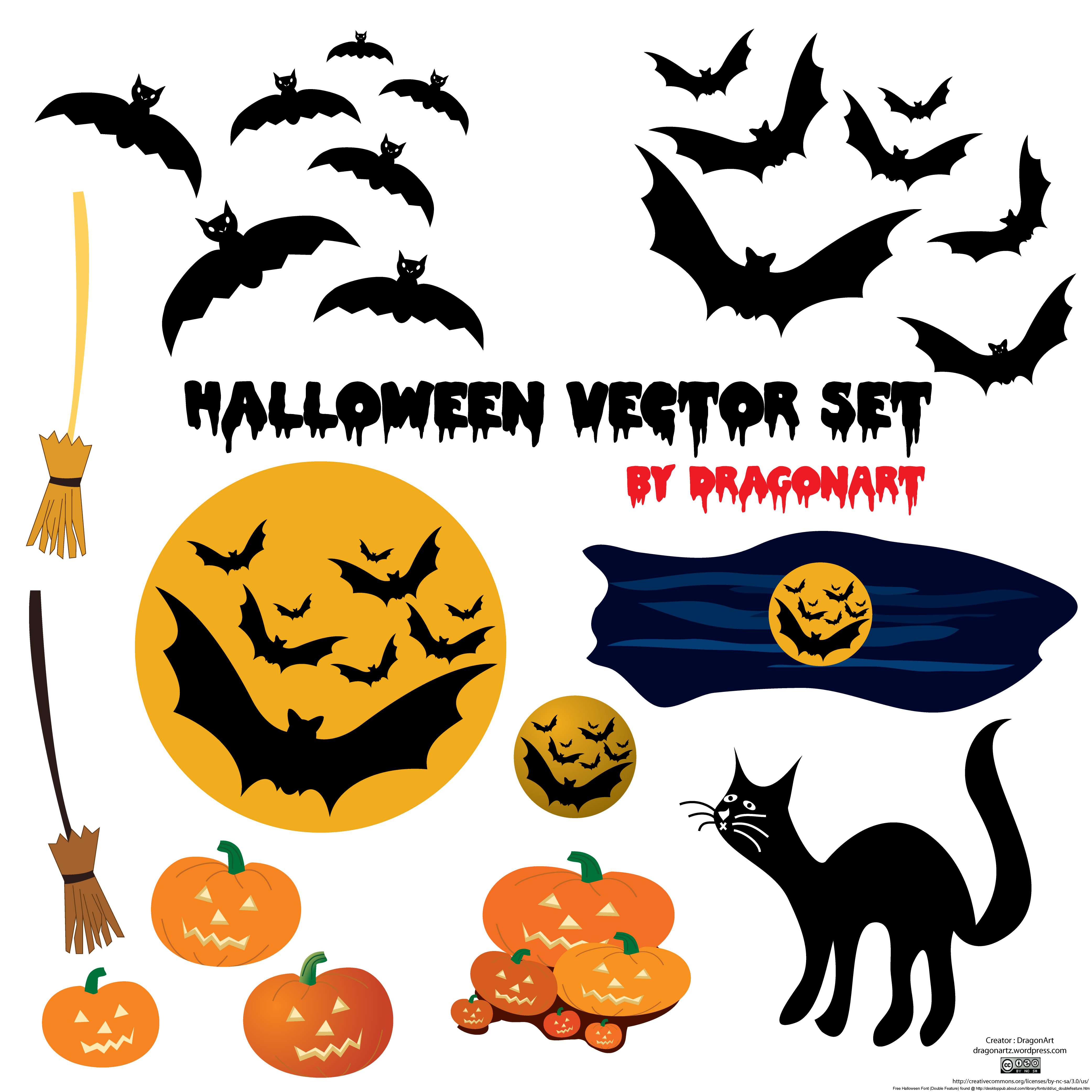 Hunting clipart vector element. Halloween set free personajes