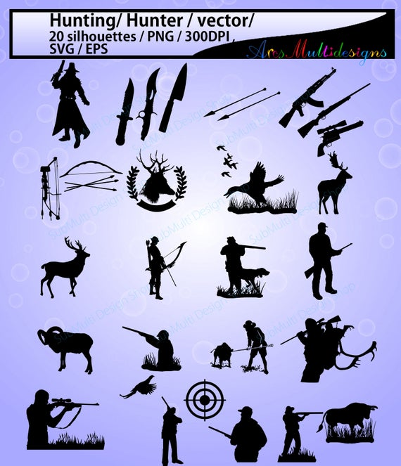 Hunting clipart vector. Svg silhouette high quality