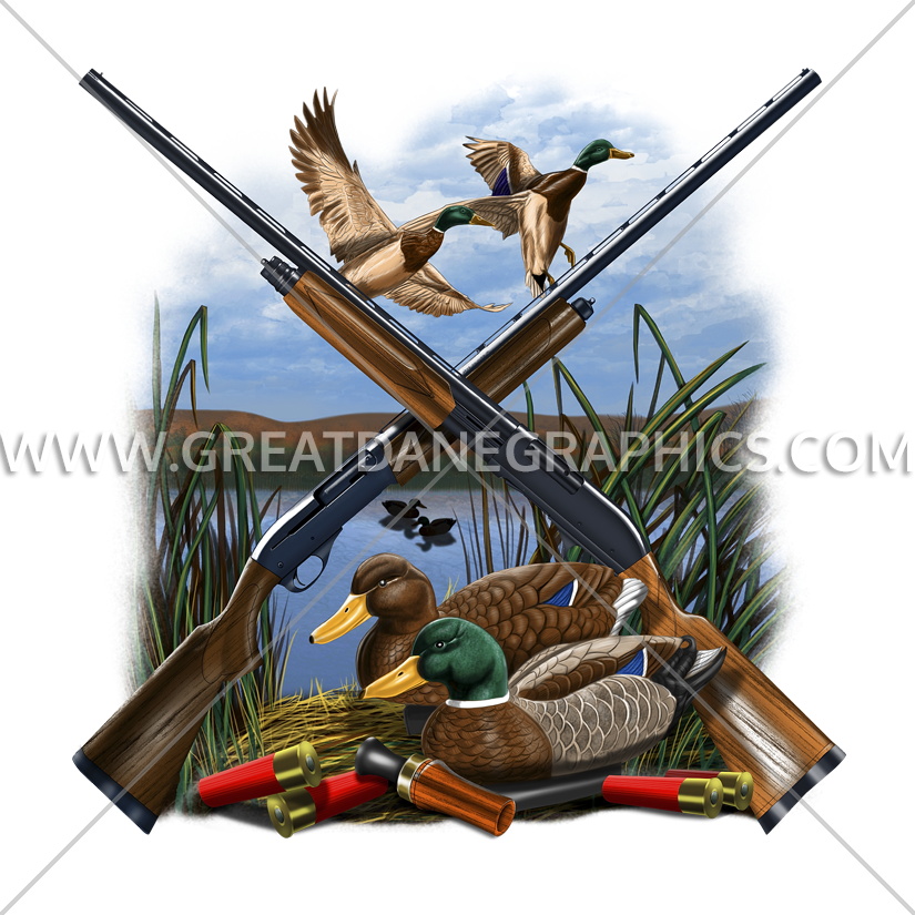 Hunting clipart waterfowl hunting. Duck layout production ready