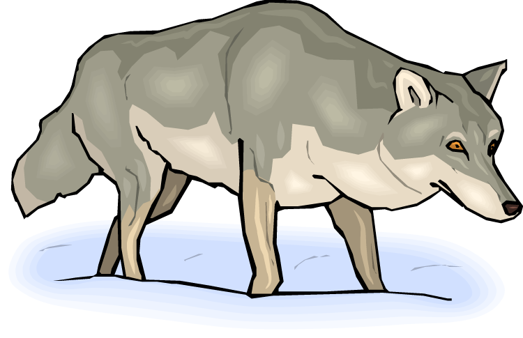 Wolf clipart line. Free