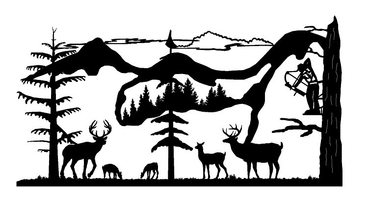 Hunting clipart wild life. Download deer hunter silhouettes