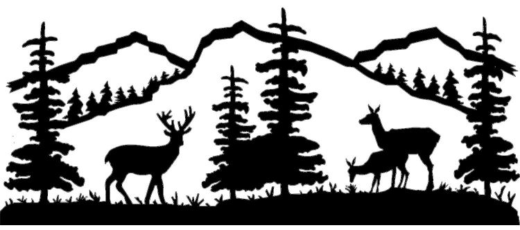 Hunting clipart wildlife scene. Free deer cliparts download