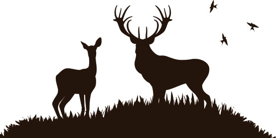 Hunting clipart wildlife scene. Free cliparts download clip