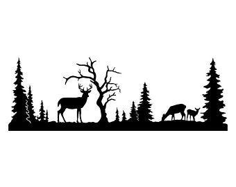 Etsy . Hunting clipart wildlife scene