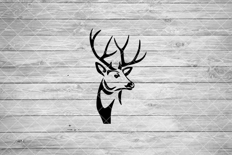 Deer svg file buck. Hunting clipart wood