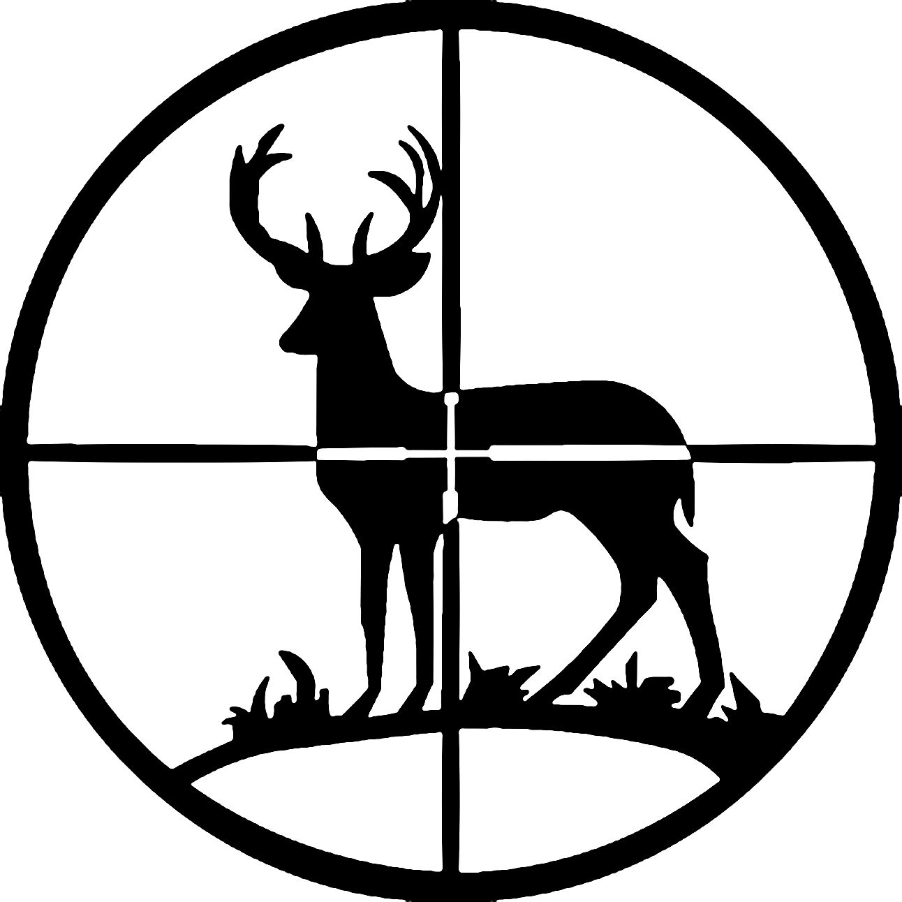 Deer silhouette free clip. Hunting clipart