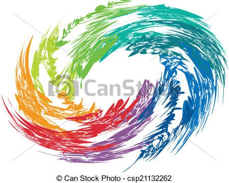 Clip art vector of. Hurricane clipart abstract
