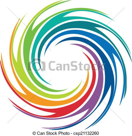 Hurricane clipart abstract. Vector colorful swirl image
