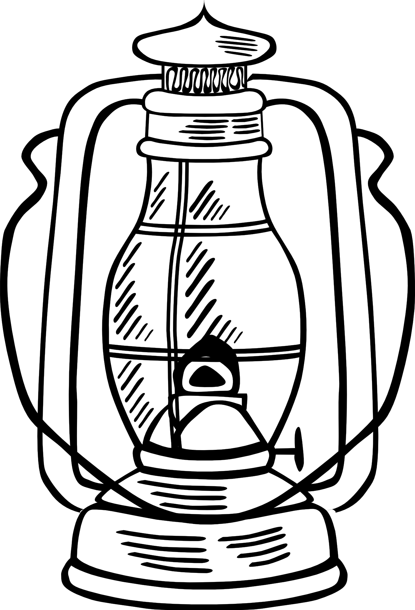 Lamp clipart ancient lamp. Oil black and white