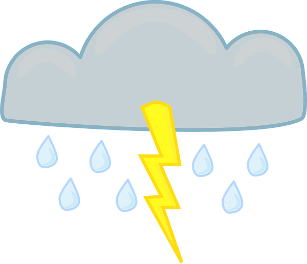 Thunderstorms cliparts zone we. Lightning clipart stormy