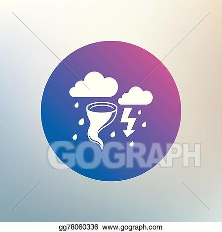 Hurricane clipart bad storm. Vector art weather sign