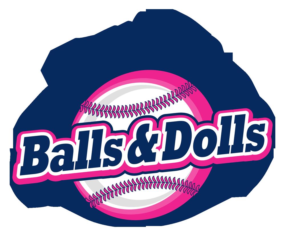 Balls dolls team logo. Hurricane clipart baseball design