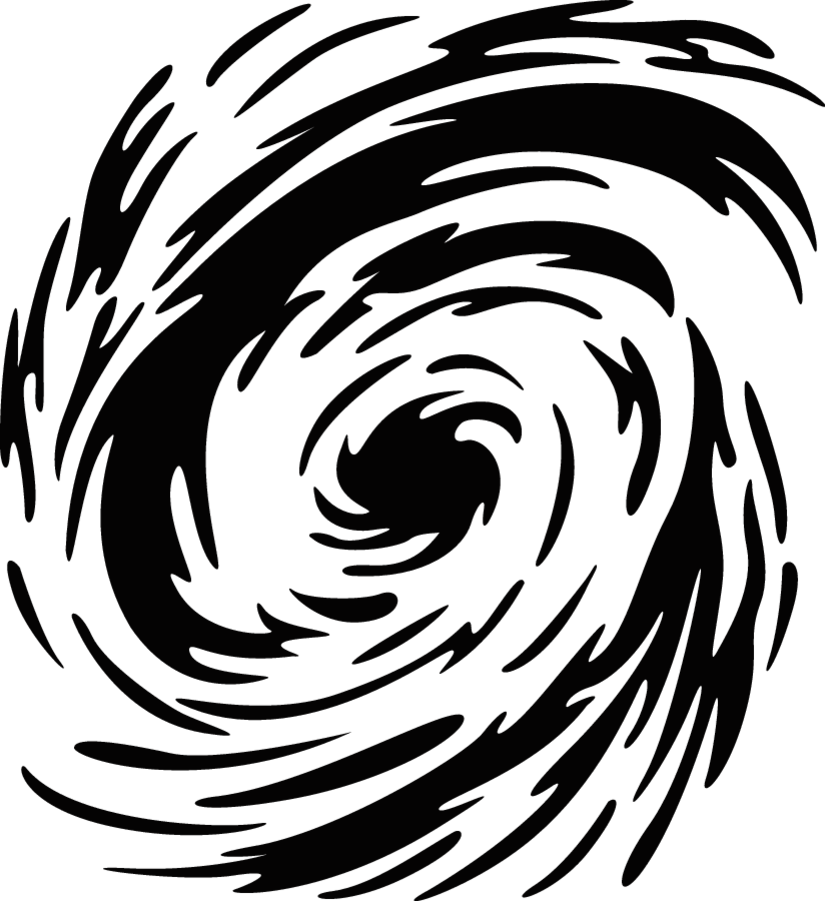 Hurricane clipart black and white. Swirl background production ready