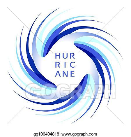 Vector illustration logo eps. Hurricane clipart blue