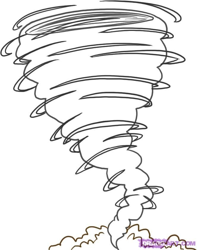 Hurricane clipart coloring page. Tornado pages how to