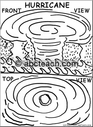 Hurricane clipart coloring page. Pages at getdrawings com
