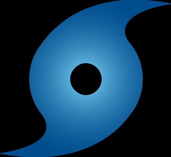 Hurricane clipart devastating. Blue weather symbol free