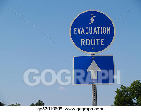 Blue sig stock . Hurricane clipart evacuation route
