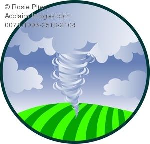 Hurricane clipart funnel cloud. A tornado swirling over