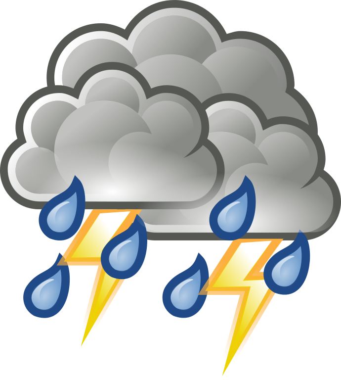 collection of storm. Hurricane clipart illustration