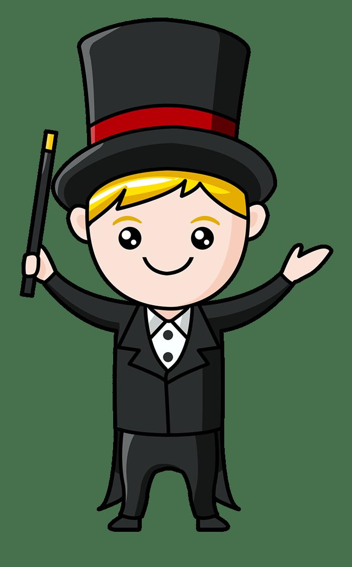 Hurricane clipart mascot. Cartoon magician gallery by