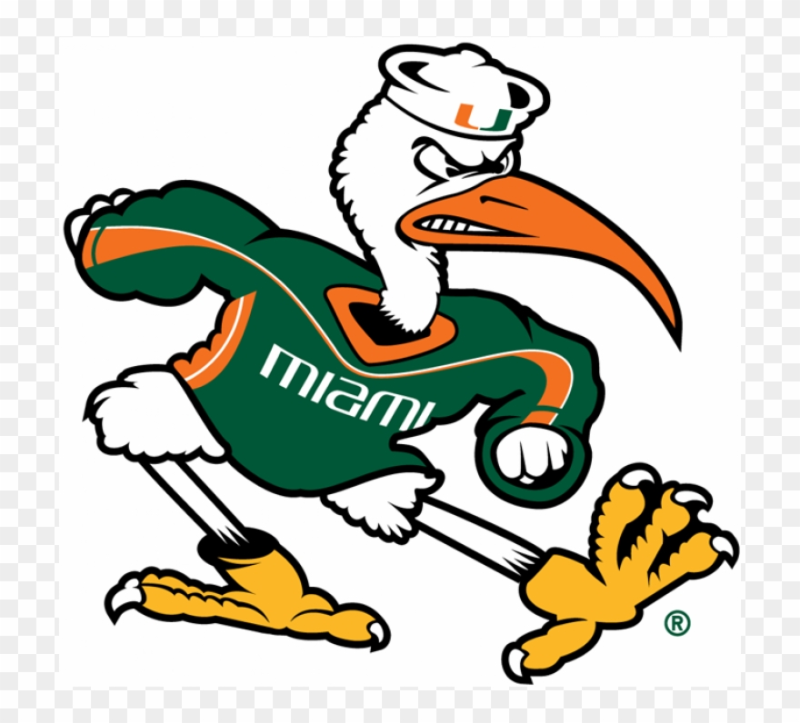 Hurricane clipart mascot. Miami hurricanes iron ons