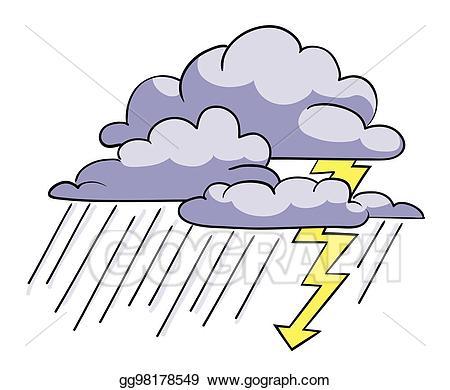 Thunderstorm clipart rainstorm. Eps illustration cartoon image