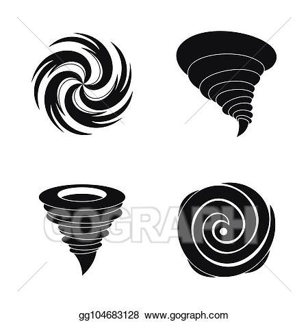 Vector art storm damage. Hurricane clipart simple