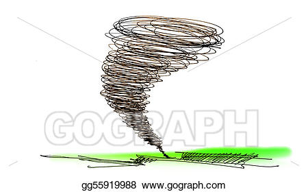 Stock illustration of the. Hurricane clipart sketch
