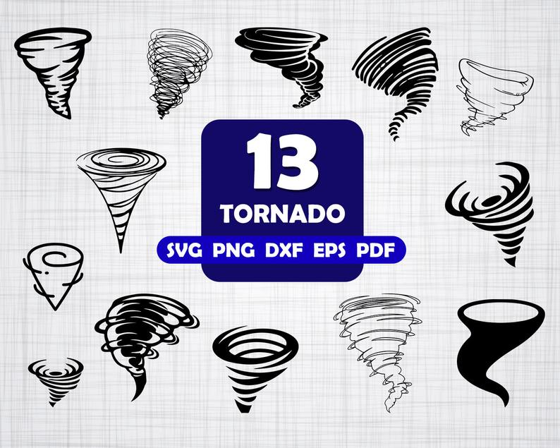 Hurricane clipart tornado drill. Svg tornadoes typhoon silhouette