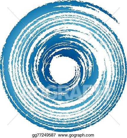 Vector art tornado logo. Hurricane clipart twister
