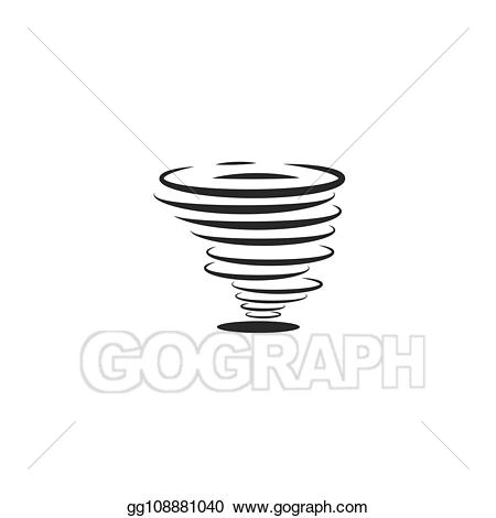 Hurricane clipart whirlwind. Vector icon or tornadoes