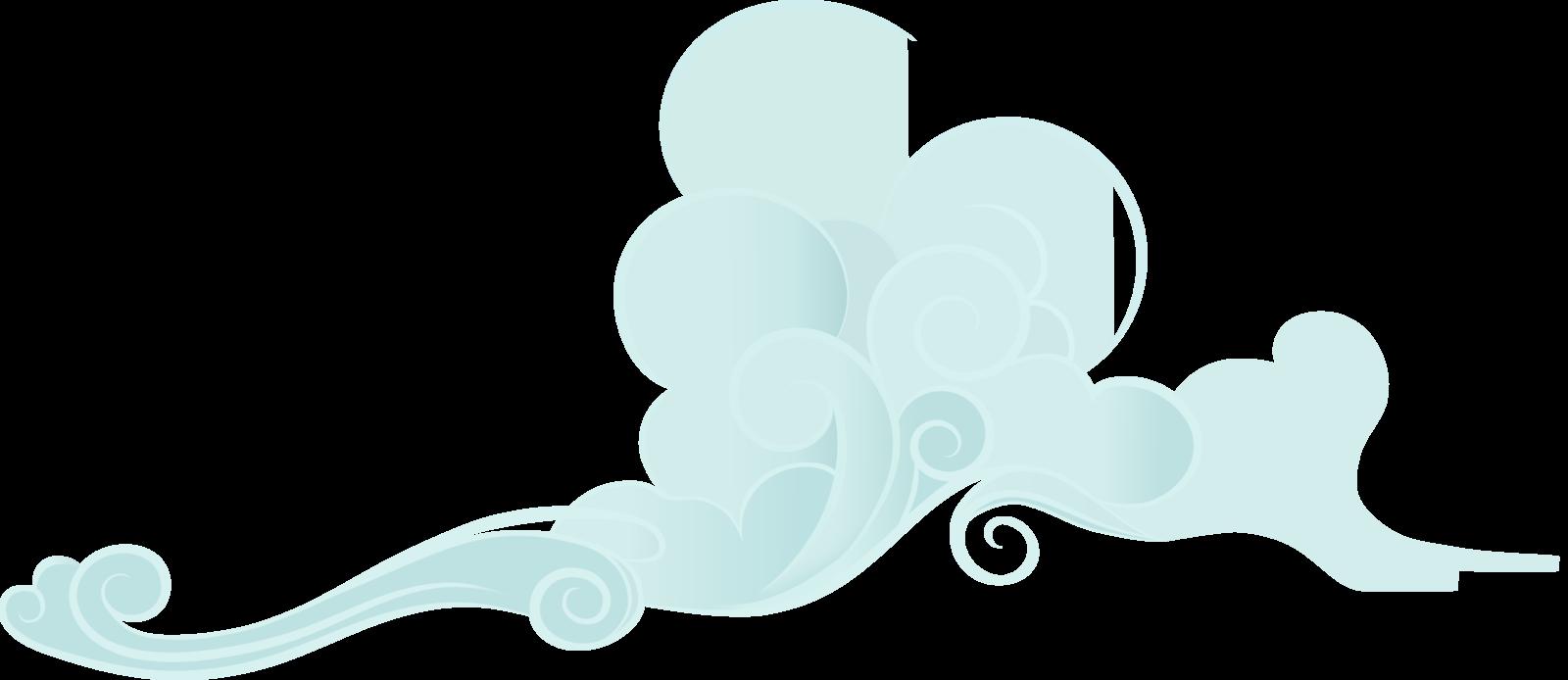 Hurricane clipart wind element. A nice fluffy cloud