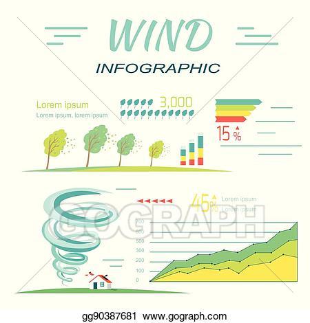 Vector stock infographics tornado. Hurricane clipart wind element