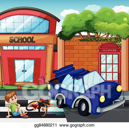 Hurt clipart accident. Eps illustration scene with