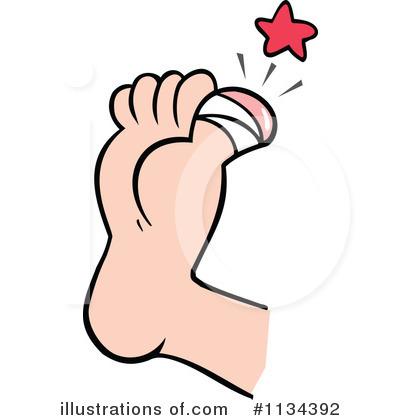 toes clipartlook. Hurt clipart big toe