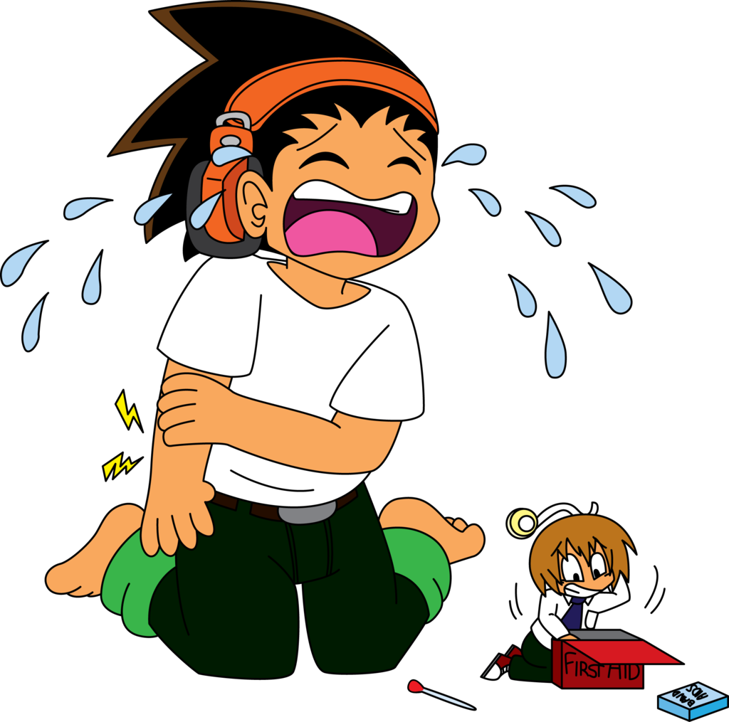 Hurt clipart bone pain. Arm drawing cartoon homo