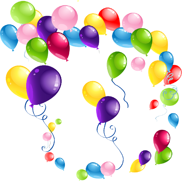 Party balloons cartoon clip. Paper clipart copy