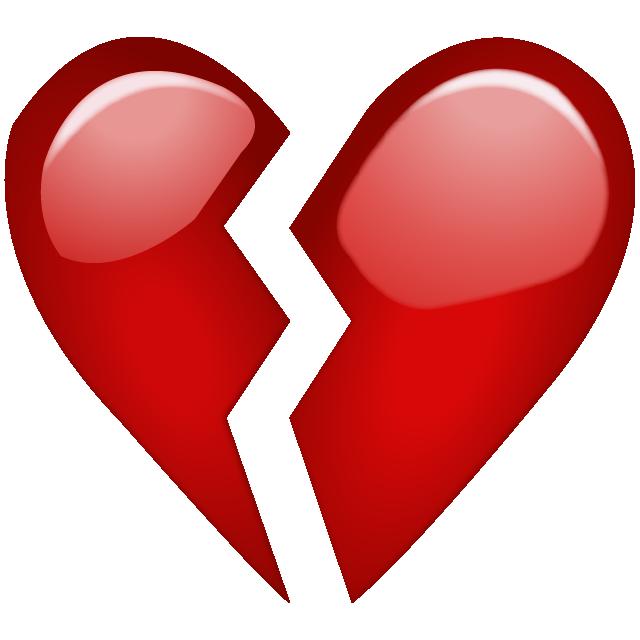 Hurt clipart emoji. Download broken red heart