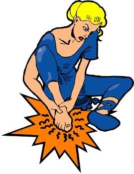 Rap river run k. Hurt clipart foot pain