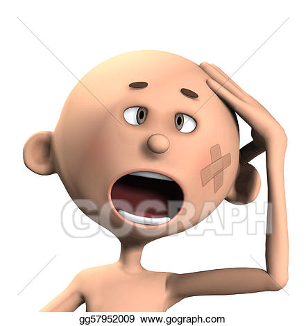Stock illustration oww my. Hurt clipart head hurts