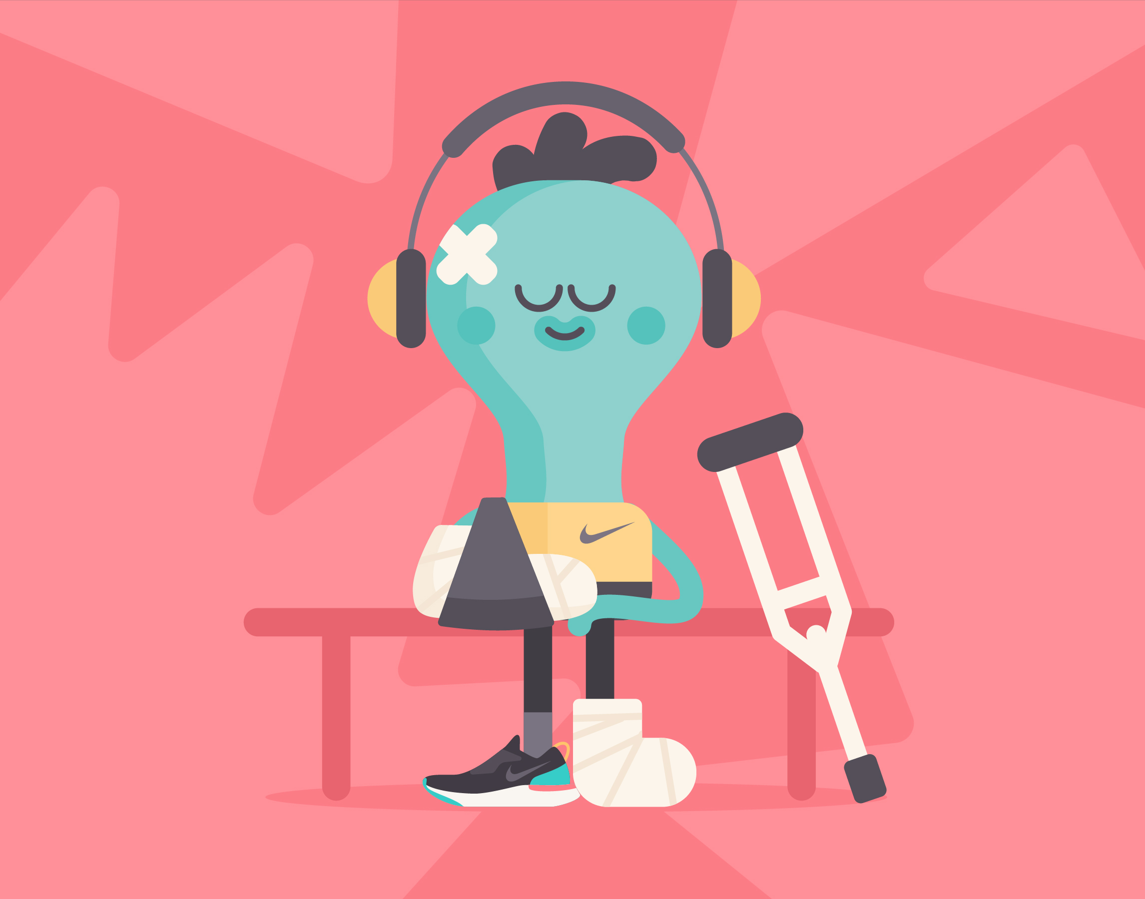 How mindfulness can help. Hurt clipart injured athlete