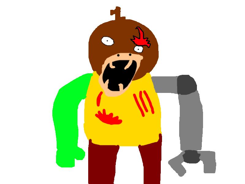 Hurt clipart moan. Monster tubby slendytubbies oc