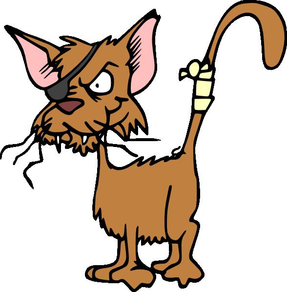 Cat clip art at. Hurt clipart pain